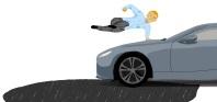 Man Jumping Car